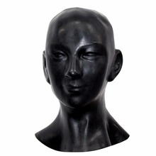 Buy (LH001)Fetish Latex full head human Anatomical female face latex mask SM suffocate Rubber hood SM suffocate Mask fetish wear