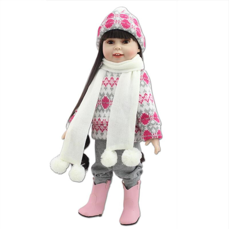 45 cm/18 Inch American Girl Doll Princess Doll, Cute Soft Silicone Reborn Dolls Babies Girl Doll for Kids Gift Free Shipping<br><br>Aliexpress