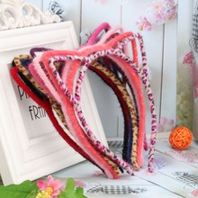 1PC Sale Summer Style Girls Coloful Crown Headband Princess Hair Accessories Children&Women Accessories Girls Cat Ear Hair Band