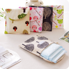 Hot Sale Lovely Fresh Cotton Cotton Multi Pattern Health Girls Aunt Towel Napkin Bag Storage