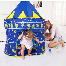 2 Colours Children Tent Toy Folding Play House Pink Blue Portable Outdoor Indoor Toy Tent Castle Cubby Children Christmas Gift