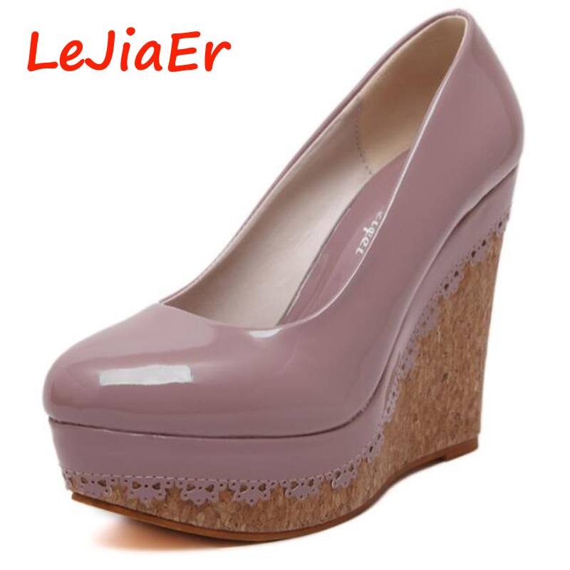 Platform pumps Wedges shoes for women High Heels purple Shoes 2017 Ultra High Heels Women Pumps Platform Shoes Wedges heels D674<br><br>Aliexpress