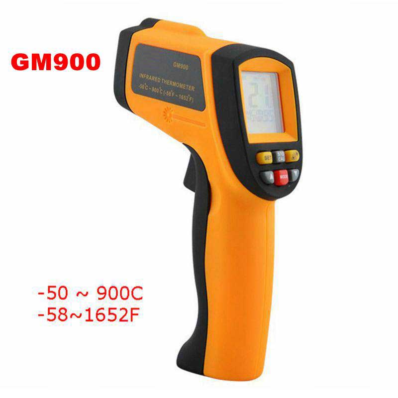 GM900 Non-contact Temperature meter -50~900C -58~1652F Pyrometer 0.1~1EM Celsius IR Infrared Thermometer<br><br>Aliexpress