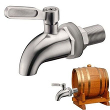 1pcs 304 Stainless Steel Wine Barrel Faucet Beer Water Juice Oak Barrel Beverage Dispenser Home Barrel Fermenter Bar Supplies(China)