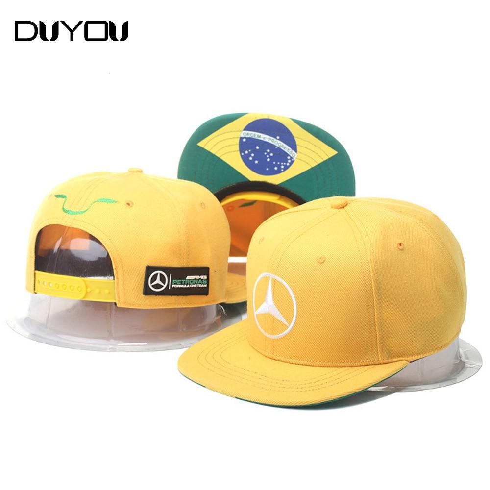 New Fashion Brazilian Flag Racing Baseball Cap Mens Snapback Hip Hop Cap Sway Cap Summer Fall Outdoor Sport Hat for Men Cap<br><br>Aliexpress