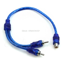 1 Female RCA 2 Male Adapter Cable Wire Splitter Stereo Audio Signal Connector -R179 Drop Shipping