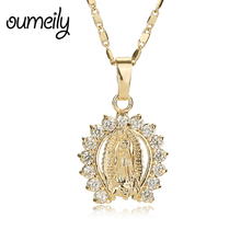 Buy OUMEILY Figure Jesus Necklace Christian Statement Vintage Women Men Gold Color Jewelry Pendant African Beads Accessories for $2.60 in AliExpress store