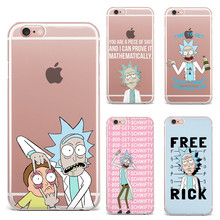 For Fundas iPhone 6 Case SE 5S 6 6S 7 Plus Rick And Morty Soft silicon TPU cover 2017 New Arrivals Original For Coque iPhone 7
