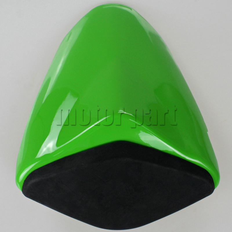 For 2009-2014 Kawasaki ZX6R ZX 6R 636 Motorcycle Rear Passenger Seat Cover Cowl Green Black 09 10 11 12 13 14<br>