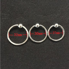 Buy 32mm Stainless steel glans ring,cock ring delay fun male sperm locking ring,male chastity device,penis ring,penis sleeve 3 Sizes