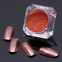 1 Box Nail Art Glitter Rose Red Mirror Powder 2g  Manicure Nail Glitter Chrome Pigment  Decoration
