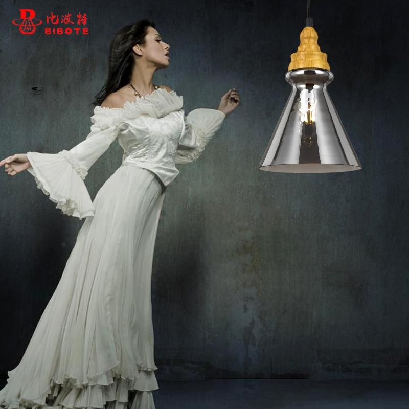 LED Light bulb pendant light copper glass restaurant pendant light single pendant light with E27 LED bulbs american style <br>