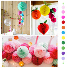 10pcs/lot 20cm (8 inch) Tissue Paper Flower ball Honeycomb Lantern Wedding decoration Holiday supplies for Party Wholesale(China)