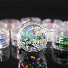 (1Pcs/Sell) High Shining Star Nail/Body/Eye Glitter Powder Paillettes DIY Nail Art Women Superfine Decorations Fashion(China)