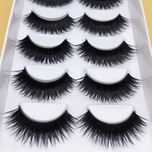 YOKPN False EyeLashes 1 Box 6 Pairs Thick Black False Eyelashes Makeup Tips Natural Smoky Makeup Long Fake Eye Lashes k70(China)