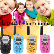 1 Pair T-388 Mini Children Walkie Talkie FRS GMRS UHF 462.55-467.7125MHz 0.5W 22CH Radio for Kids LCD Display 2pcs/set