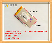 best battery brand rechargeable batteries 3.7V 3000mah polymer lithium Li-ion battery for tablet pc 7 inch MP3 MP4 3553110
