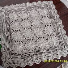 free shipping cotton crochet lace table cover for home decor cutout table towel as innovative item for home decor white square