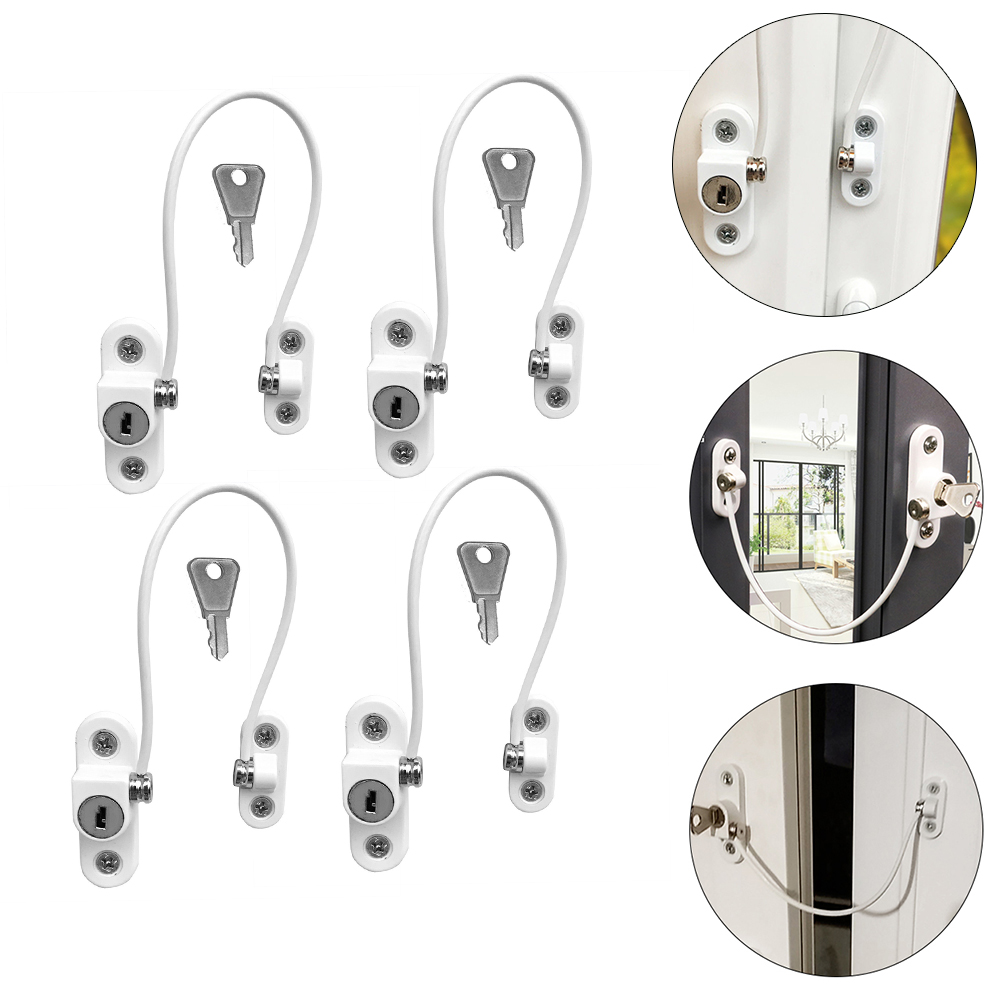 4 Pcs Baby Safety Locks Child Lock Protection For Windows Restrictor Stainless Steel Window Limiter Infant Limiter Security Lock