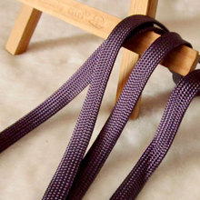 High Quality Hollow Flat Cord 1.2cm Wide Bright Purple Piping Rope Pants Waist Band Bundle Rope QRF-33(China)