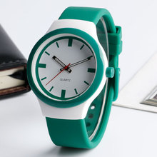 Fashion Unique 30m Waterproof Silicone Wristwatch Women Sports Outdoor Casual Quartz-watch Female Clock Gift Online Sale(China)
