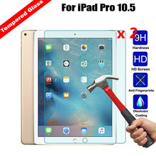 XSKEMP 2Pcs/Lot 2.5D Edge 9H Transparent Ultra-thin Tempered Glass Film For Apple iPad Pro 10.5 Tablet PC Screen Protector Film