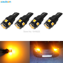4pcs car styling Car Auto LED T10 194 W5W 9 smd 2835 LED Light Bulb Amber yellow parking T10 LED Car Side Light(China)
