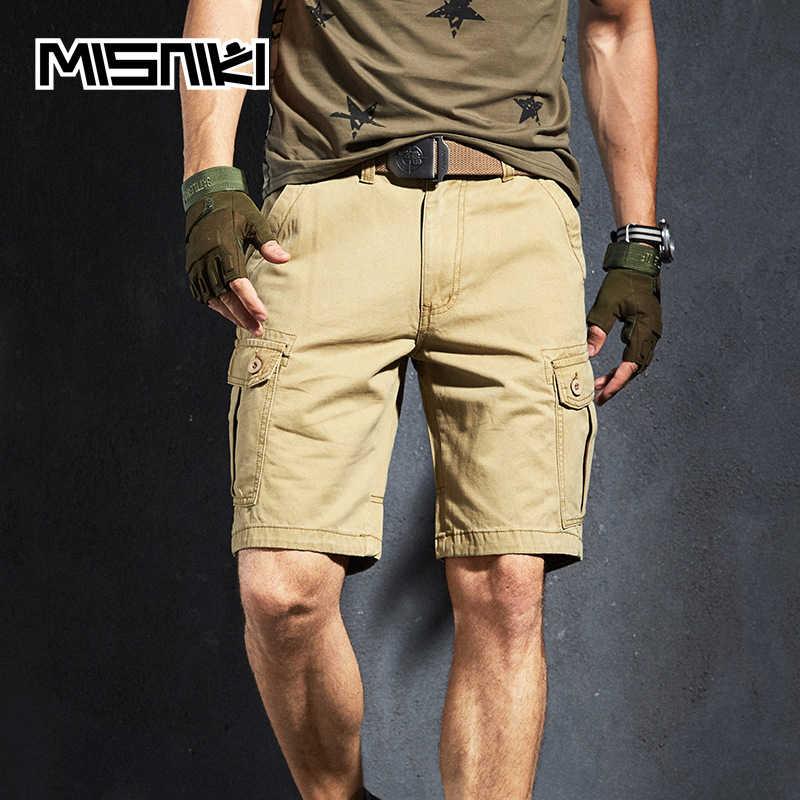 36ba49623f MISNIKI 2019 New Summer Cargo Shorts Men Multi Pocket Cotton Military  Tactical Casual Mens Shorts
