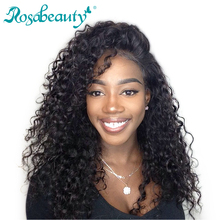 Rosabeauty Lace Front Wigs Deep Wave Remy Hair Bleached Knots 100% Human Hair With Natural Hairline Guleless