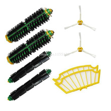 Replacement accessory kit for irobot roomba 530 532 535 includes 2 side brush, 2 pack filter, 2 bristle brush and 2beater brush(China)