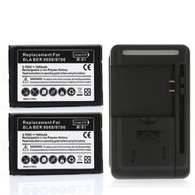 YIBOYUAN 2x 1800mah Battery For Blackberry Bold 9700 9780 9000 Batteries + Wall Charger for Blackberry Bold 9700 9780 9000