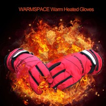 Outdoor Electric Warm Heated Gloves Ski Snowboard Windproof Water-proof Sport Gloves Rechargeable Hand Warmer Motorcycle Gloves(China)