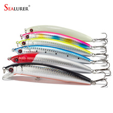 Sealurer Brand 11cm 18.5g 1# Hooks Minnow Fishing Lure Deep Diver Wobble Plastic Hard Bait Crankbait 5pcs/lot