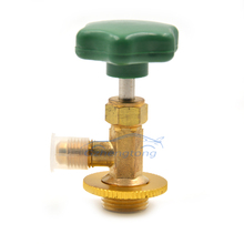 Car Air Conditioned AC Refrigeration Equment R134a Refrigerant Freon Opener Tools 339 Green Valve Caps Opener(China)
