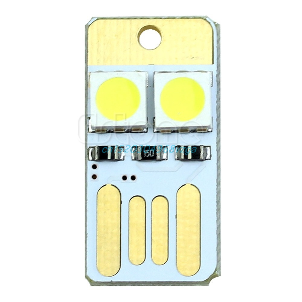 Portable Pocket Card Lamp Bulbs Led Keychain Mini LED Night Light USB Power #H028#