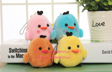 Super Kawaii NEW MIX Colors , 6CM SAN-X Little Chicken Stuffed plush Toy String Charm Pendant Plush TOY wedding Gift DOLL(China)