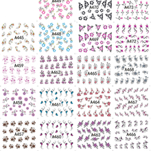 48 Sheets Various Arabesque Pattern Nail Art Water Transfer Nail Tips Decals Flower Stickers Manicure Decoration Tools LAA433-48