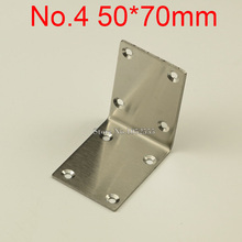 10PCS 50*70mm stainless steel furniture corners angle bracket L shape metal frame board support fastening fittings K274
