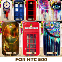 Multi Styles Dream Catcher Telephone Booth Letters Phone Cases Covers For HTC Desire 500 506e 5088 Phone Case Back Cover Shell