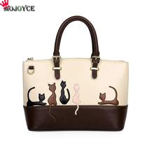 Dual Use Women Detachable Belt Handbags Cute Cat Rabbit PU Leather Girls Shoulder Bag Lady Messenger Crossbody Casual Tote(China)