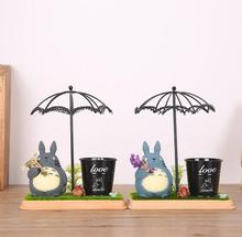 My Neighbor Totoro Umbrella 17cm Pen Container Toys Home Decoration #2901 Action Figure Brinquedo Toy Kids Christmas Gift