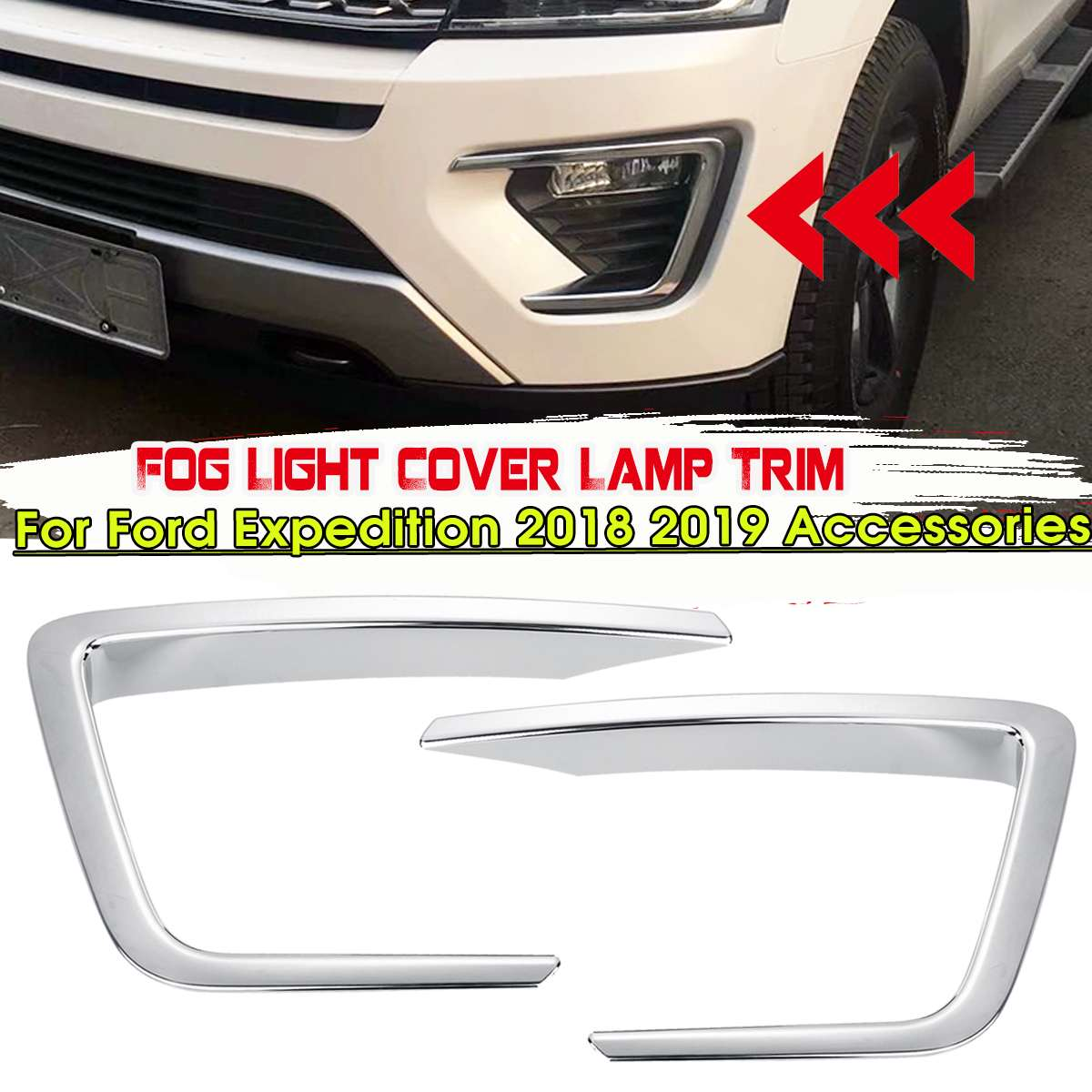 For Lincoln MKX 2016-2018 ABS chrome plated high brake lamp decoration 1pcs
