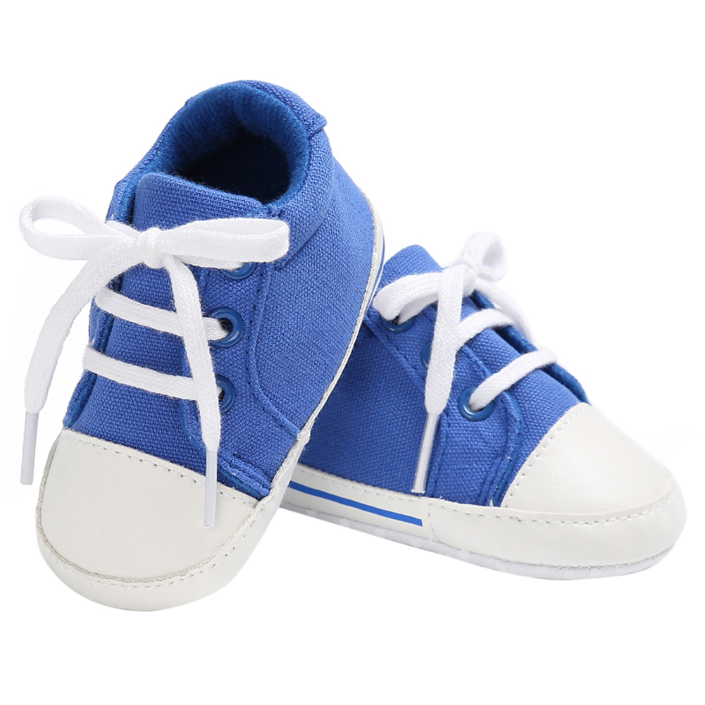 Spring Summer Newborn Canvas Shoes Sneaker Fashion 0-18 Month Baby Girls Boys Solid Soft Sole Shoes Prewalker First Walkers 5