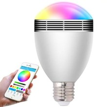Bluetooth wireless Speaker RGB  Smart Led  Lamp  Afstandsbediening LED Lamp  spreker is popular for people