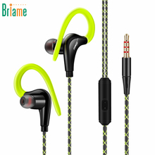 HiFi Earphone Super Bass Headphone Sweatproof Running Headset With Mic Ear Hook For iphone Samsung Xiaomi Sport Earbuds Earpiece