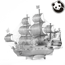 Pandamodel@Chinese Metal Earth 3D Metal model kits 9 inch English version Queen Anne's Revenge 2 Sheets Military Puzzles DIY