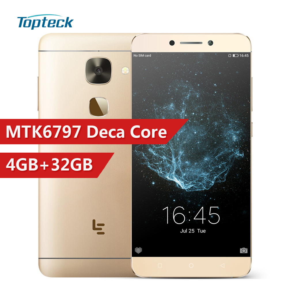 "LETV LeEco Le S3 X626 4G Smartphone MTK6797 Helio X20 Deca Core 5.5"" FHD 4GB+32GB 21MP Fingerprint ID Quick Charge Mobile Phone"