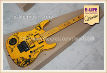 Good Cheap Price ESP KH-2 OUIJA Yellow Electric Guitar Kirk Hammett Signature China Musical Instrument(China)