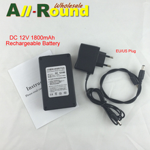 Portable 12V Li-polymer Super Rechargeable Battery Pack DC for CCTV Camera 1800mAh ECOS