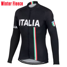 New white Italy ITALIA cycling jersey men long sleeve Winter Fleece & no Fleece cycling clothing MTB Breathable Bike Jersey